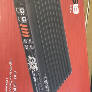 EXL SOUND QUALITY FULL RANGE CLASS D 4 CHANNEL AMPLIFIER 2000 WATTS for Sale in Miami, FL