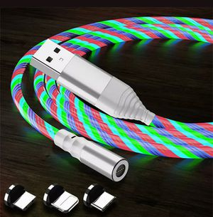 Multi color glowing led magnetic 3 in 1. 6.6ft charging cable. 2 for $18. for Sale in Los Angeles, CA