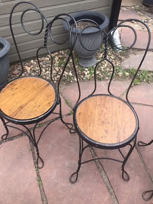 Two Antique ice cream parlor chairs for Sale in Denver, CO