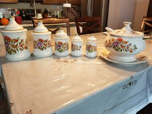 Porcelain Canister Set & Soup Tureen for Sale in Aldie, VA