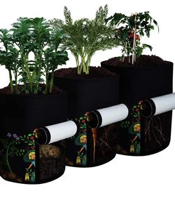 3-Pack 5 Gallon Plant Grow Bags, Visualization Window Thickened for Sale in Hayward,  CA