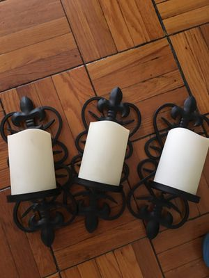 Electric Candle wall sconce (3 total) for Sale in Washington, DC