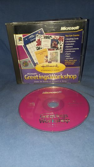 CD rom Microsoft Greetings Workshop for Sale in Westminster, CA