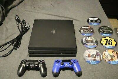 PS4 pro with two controllers