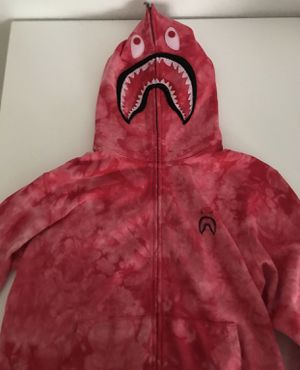 Bape Hoodie Full Zip Red Tie Dye XL for Sale in Jersey City, NJ