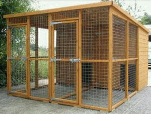 Basic dog kennel and run for Sale in Taylor, MI
