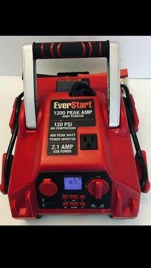 EVERSTART 1200 AMP Jump Starter w/120 PSI Air Compressor & Inverter J45TKE for Sale in Lithonia, GA