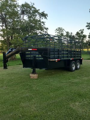 16ft gooseneck cattle trailer for Sale in Crosby, TX