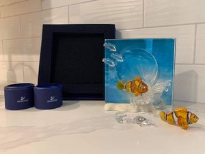 Various SWAROVSKI CRYSTAL pieces picture frame fish turtle clam for Sale in San Mateo, CA