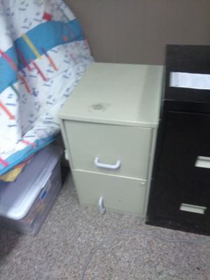 White and black file cabinet for Sale in Philadelphia, PA