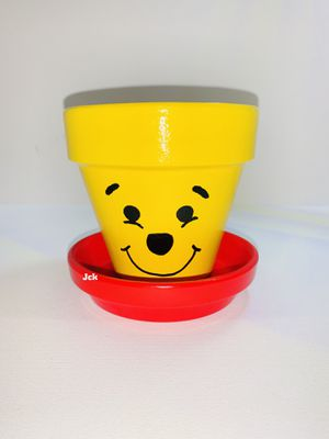 Winnie the Pooh hand painted flower pot for Sale in Los Angeles, CA