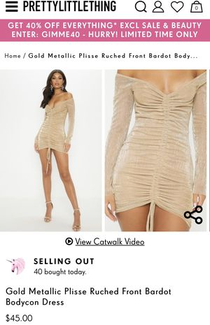 Metallic Bodycon Dress from PLT for Sale in Fontana, CA