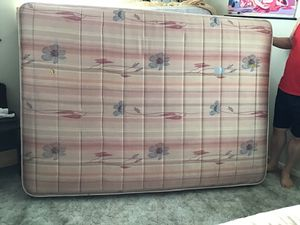 Full size mattress (with small tear) & box spring - $95 for Sale in Abilene, TX
