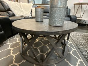 Round Cocktail Table, Grey for Sale in Santa Fe Springs, CA