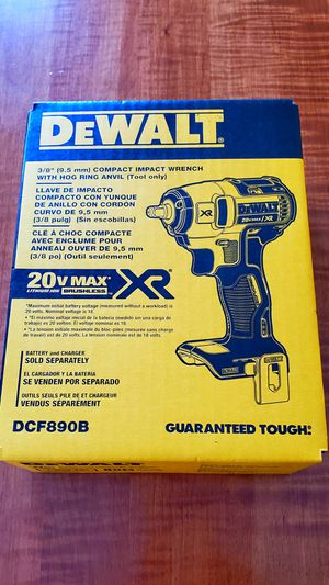 """NEW 2019 3/8"""" 20vMAX Brushless Compact Impact Wrench (Tool-Only)! for Sale in Lebanon, PA"""