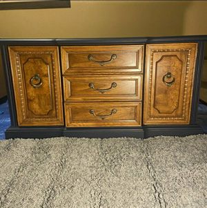 Navy Solid Wood Buffet/Dresser for Sale in Portland, OR