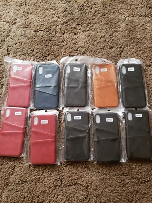 Brand New Leather Apple Iphone cases with pockets. for Sale in Sanger, CA