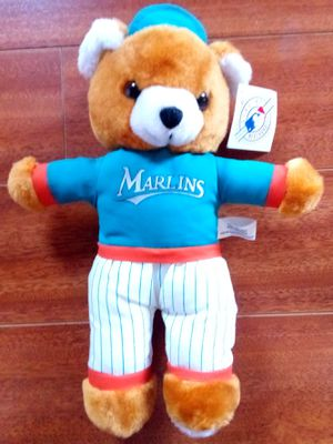 """Florida Marlins 12.""""5 Plush Baseball Teddy Bear Play by Play MLB New for Sale in Alhambra, CA"""