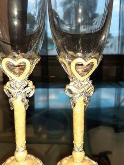 Olivia Riegel Hearts Crystal Enamel Flutes for Sale in Stuart,  FL