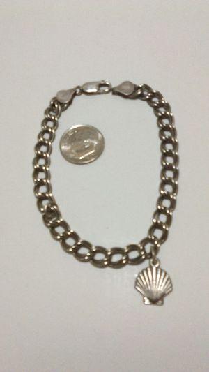 Sterling silver 925 double link 8 inch starter charm bracelet 12.5 gram for Sale in Mesa, AZ