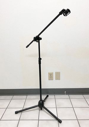Brand new $13 Microphone Boom Stand Mic Clip Holder Studio Arm Adjustable Foldable Tripod for Sale in Downey, CA
