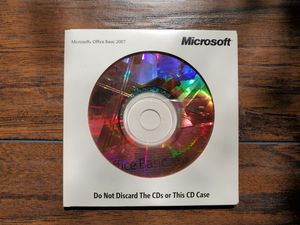 MICROSOFT OFFICE BASIC 2007 GENUINE OEM CD FULL ENGLISH VERSION WITH PRODUCT LICENSE KEY WORD EXCEL OUTLOOK for Sale in Phoenix, AZ