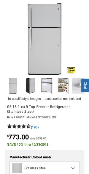 GE top-freezer refrigerator brand new stainless for Sale in Detroit, MI