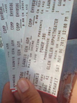 Power house tickets! for Sale in Fontana, CA