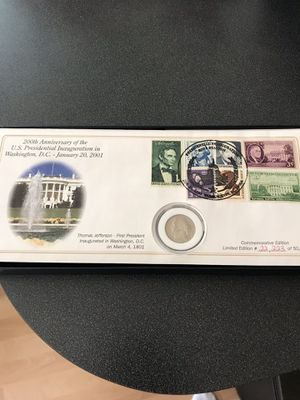200th inaugural anniversary first day cover 2002 for Sale in OSBORNVILLE, NJ