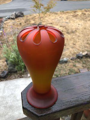 Depression Satin Glass Flower Vase for Sale in Cotati, CA