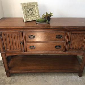 Solid Wood TV Stand drawers! See all pictures for measurements for Sale in San Diego, CA