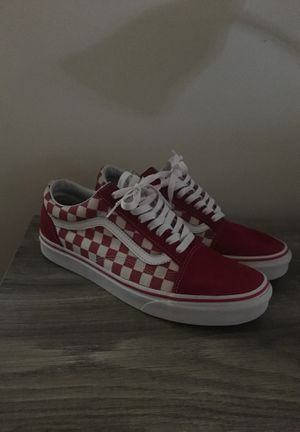 Red checkered vans for Sale in Millville, NJ