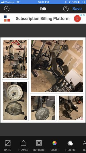 Weight Bench + weight Golds Gym/Body Champ for Sale in San Antonio, TX