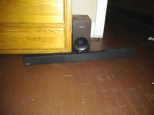 Smart tv and Samsung sound bar and booster for Sale in Columbus, OH