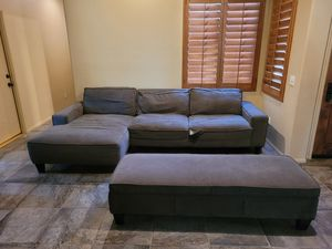 Grey couch for Sale in Chiriaco Summit, CA