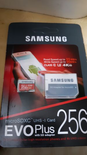 Samsung sd card 256gb for Sale in Harrisburg, PA