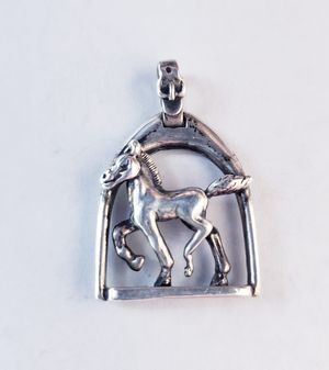 KABANA Horse in Stirrup Charm Pedant Sterling Silver 925 for Sale in Chula Vista, CA