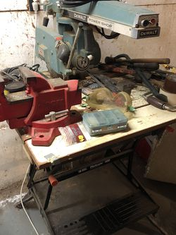 Vintage Radial Arm Saw, Miter Saw, Vice & Misc Tools for Sale in Bethel Park,  PA