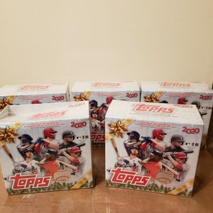 ⚾️⚾️2020 Topps Holiday MLB Baseball Sealed Mega Box🔥🔥🔥🔥 (LOT OF 5) for Sale in Pittston, PA