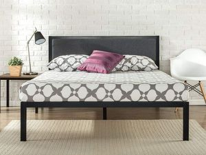 SALE!! New King size platform bed frame with upholstered headboard for Sale in Columbus, OH