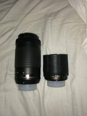 Nikon lenses. 18-55mm & 70-300mm. for Sale in Mableton, GA