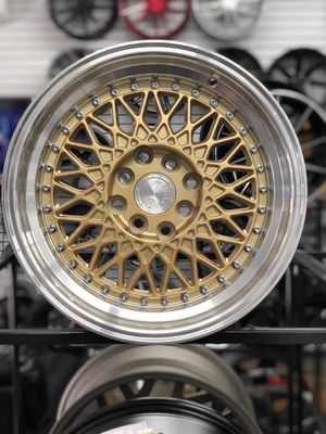 """Aodhan 15"""" gold wheels rims tires fit 4x100/114 4 lug Honda Civic Mini Cooper Toyota Corolla for Sale in Queens, NY"""