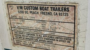 1999 boat trailer. Cash 800$ and something trade for Sale in Riverside, CA