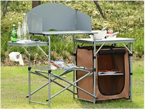 Tailgate Party Picnic Foldable Outdoor BBQ Portable Grilling Table With Windscreen and Carry Bag for Sale for sale  Brooklyn, NY