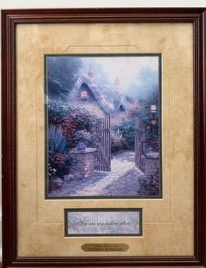 Framed and Matted Print Hidden Cottage II by Thomas Kinkade Hidden Cottage Collection for Sale in Peachtree Corners, GA