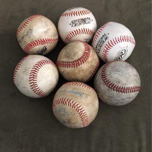 7 Baseballs For Batting Practice Rubber Coated for Sale in Grand Rapids, MI