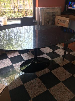 Imported Italian Oval Granite Dinning Table for Sale for sale  The Bronx, NY