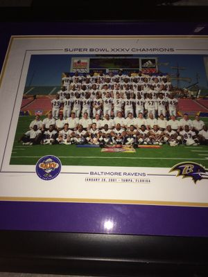 2001 Super Bowl Championship picture for Sale in Durham, NC