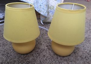 Yellow Table Lamps, set of 2 for Sale in Clarksville, TN