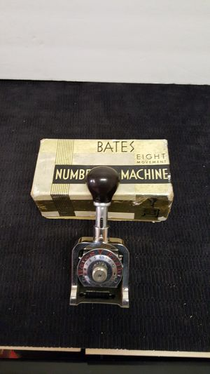 Antique bates eight movement numbering machine for Sale in Fullerton, CA